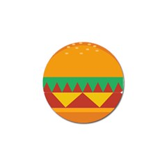 Burger Bread Food Cheese Vegetable Golf Ball Marker (4 Pack)