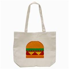 Burger Bread Food Cheese Vegetable Tote Bag (Cream)