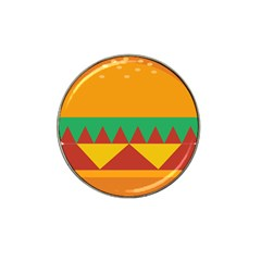 Burger Bread Food Cheese Vegetable Hat Clip Ball Marker (4 pack)