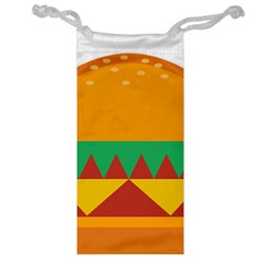 Burger Bread Food Cheese Vegetable Jewelry Bag