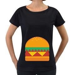 Burger Bread Food Cheese Vegetable Women s Loose Fit T Shirt (black)