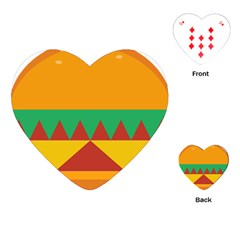 Burger Bread Food Cheese Vegetable Playing Cards (Heart)