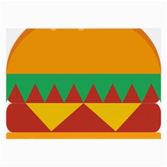 Burger Bread Food Cheese Vegetable Large Glasses Cloth (2 Side)