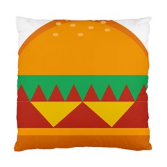 Burger Bread Food Cheese Vegetable Standard Cushion Case (one Side)