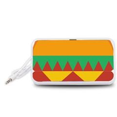 Burger Bread Food Cheese Vegetable Portable Speaker (White)