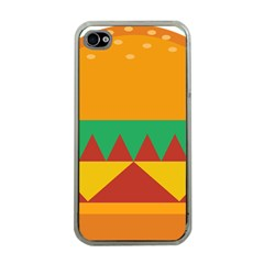 Burger Bread Food Cheese Vegetable Apple iPhone 4 Case (Clear)
