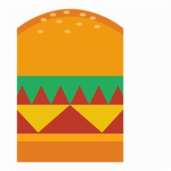 Burger Bread Food Cheese Vegetable Small Garden Flag (Two Sides)