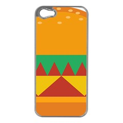 Burger Bread Food Cheese Vegetable Apple iPhone 5 Case (Silver)