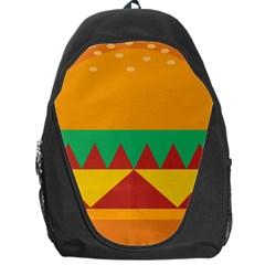 Burger Bread Food Cheese Vegetable Backpack Bag