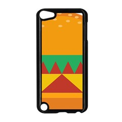 Burger Bread Food Cheese Vegetable Apple iPod Touch 5 Case (Black)