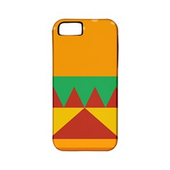 Burger Bread Food Cheese Vegetable Apple iPhone 5 Classic Hardshell Case (PC+Silicone)
