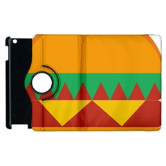 Burger Bread Food Cheese Vegetable Apple iPad 2 Flip 360 Case