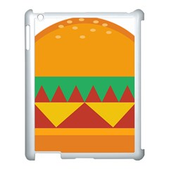 Burger Bread Food Cheese Vegetable Apple iPad 3/4 Case (White)