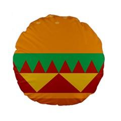 Burger Bread Food Cheese Vegetable Standard 15  Premium Round Cushions