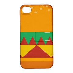 Burger Bread Food Cheese Vegetable Apple iPhone 4/4S Hardshell Case with Stand