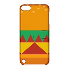Burger Bread Food Cheese Vegetable Apple iPod Touch 5 Hardshell Case with Stand