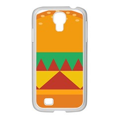 Burger Bread Food Cheese Vegetable Samsung GALAXY S4 I9500/ I9505 Case (White)