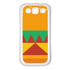 Burger Bread Food Cheese Vegetable Samsung Galaxy S3 Back Case (White)