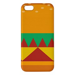 Burger Bread Food Cheese Vegetable iPhone 5S/ SE Premium Hardshell Case