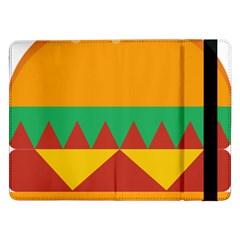 Burger Bread Food Cheese Vegetable Samsung Galaxy Tab Pro 12.2  Flip Case