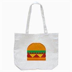 Burger Bread Food Cheese Vegetable Tote Bag (White)