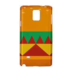 Burger Bread Food Cheese Vegetable Samsung Galaxy Note 4 Hardshell Case