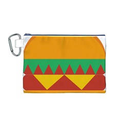 Burger Bread Food Cheese Vegetable Canvas Cosmetic Bag (M)