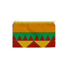 Burger Bread Food Cheese Vegetable Cosmetic Bag (XS)