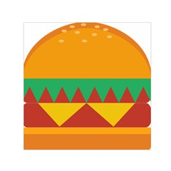 Burger Bread Food Cheese Vegetable Small Satin Scarf (square)