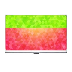 Colorful Abstract Triangles Pattern  Business Card Holders