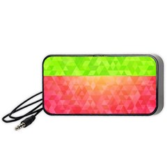 Colorful Abstract Triangles Pattern  Portable Speaker (black)