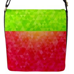 Colorful Abstract Triangles Pattern  Flap Messenger Bag (s)