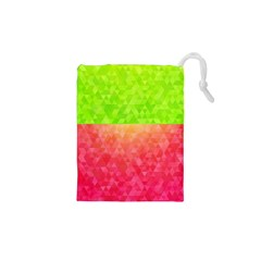 Colorful Abstract Triangles Pattern  Drawstring Pouches (xs)