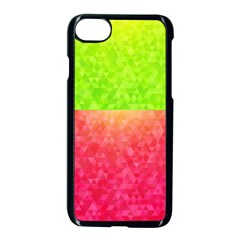 Colorful Abstract Triangles Pattern  Apple Iphone 7 Seamless Case (black)