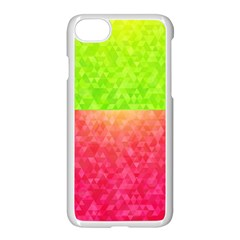 Colorful Abstract Triangles Pattern  Apple Iphone 7 Seamless Case (white)