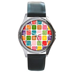 Icons Vector Round Metal Watch