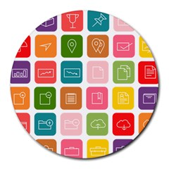 Icons Vector Round Mousepads
