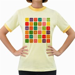 Icons Vector Women s Fitted Ringer T Shirts