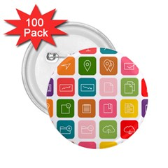 Icons Vector 2 25  Buttons (100 Pack)