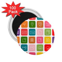 Icons Vector 2 25  Magnets (100 Pack)