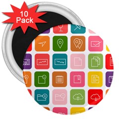 Icons Vector 3  Magnets (10 pack)