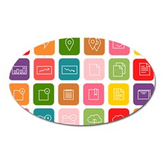 Icons Vector Oval Magnet