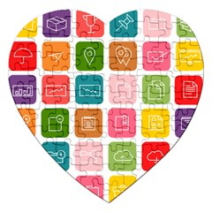 Icons Vector Jigsaw Puzzle (heart)