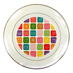 Icons Vector Porcelain Plates