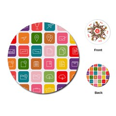 Icons Vector Playing Cards (round)