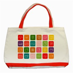 Icons Vector Classic Tote Bag (red)