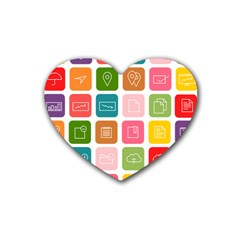 Icons Vector Rubber Coaster (heart)