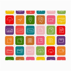 Icons Vector Small Glasses Cloth (2 Side)