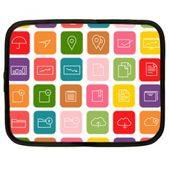 Icons Vector Netbook Case (Large)