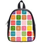 Icons Vector School Bags (Small)  Front